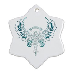 Angel Tribal Art Snowflake Ornament (two Sides)