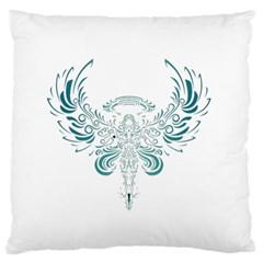 Angel Tribal Art Large Flano Cushion Case (two Sides)