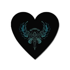Angel Tribal Art Heart Magnet