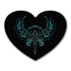Angel Tribal Art Heart Mousepads