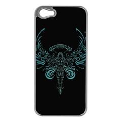 Angel Tribal Art Apple Iphone 5 Case (silver)