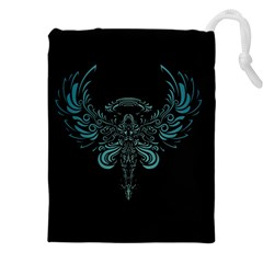 Angel Tribal Art Drawstring Pouches (xxl)