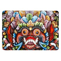 Wood Sculpture Bali Logo Samsung Galaxy Tab 8 9  P7300 Flip Case
