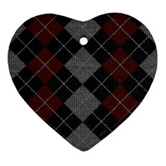 Wool Texture With Great Pattern Ornament (heart)