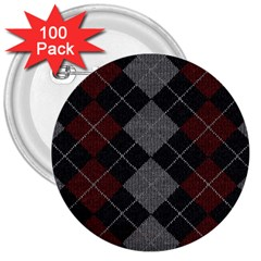 Wool Texture With Great Pattern 3  Buttons (100 Pack)