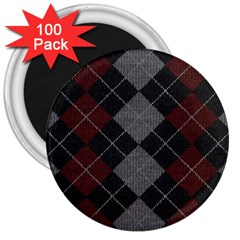 Wool Texture With Great Pattern 3  Magnets (100 Pack)