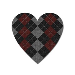 Wool Texture With Great Pattern Heart Magnet