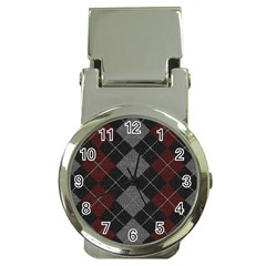 Wool Texture With Great Pattern Money Clip Watches