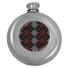 Wool Texture With Great Pattern Round Hip Flask (5 Oz)