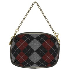 Wool Texture With Great Pattern Chain Purses (two Sides)