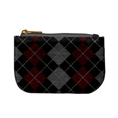 Wool Texture With Great Pattern Mini Coin Purses