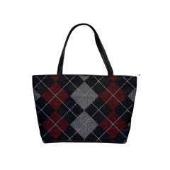 Wool Texture With Great Pattern Shoulder Handbags
