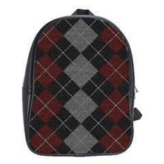Wool Texture With Great Pattern School Bags(large)