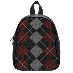 Wool Texture With Great Pattern School Bags (small)