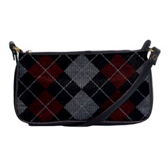 Wool Texture With Great Pattern Shoulder Clutch Bags