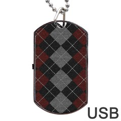 Wool Texture With Great Pattern Dog Tag Usb Flash (one Side)