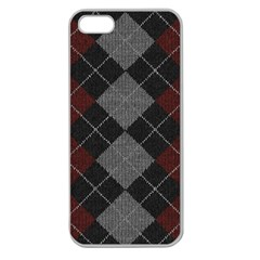Wool Texture With Great Pattern Apple Seamless Iphone 5 Case (clear)