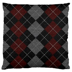 Wool Texture With Great Pattern Large Flano Cushion Case (one Side)