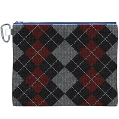 Wool Texture With Great Pattern Canvas Cosmetic Bag (xxxl)