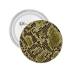 Yellow Snake Skin Pattern 2 25  Buttons