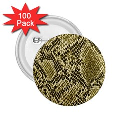 Yellow Snake Skin Pattern 2 25  Buttons (100 Pack)
