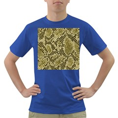 Yellow Snake Skin Pattern Dark T Shirt