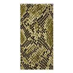 Yellow Snake Skin Pattern Shower Curtain 36  X 72  (stall)