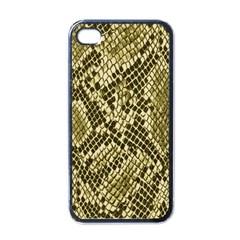 Yellow Snake Skin Pattern Apple Iphone 4 Case (black)