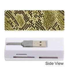 Yellow Snake Skin Pattern Memory Card Reader (stick)