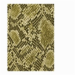 Yellow Snake Skin Pattern Small Garden Flag (two Sides)
