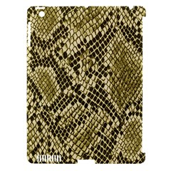 Yellow Snake Skin Pattern Apple Ipad 3/4 Hardshell Case (compatible With Smart Cover)