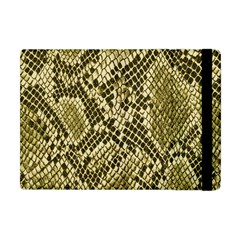 Yellow Snake Skin Pattern Apple Ipad Mini Flip Case