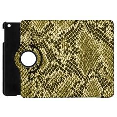 Yellow Snake Skin Pattern Apple Ipad Mini Flip 360 Case