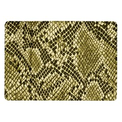 Yellow Snake Skin Pattern Samsung Galaxy Tab 10 1  P7500 Flip Case