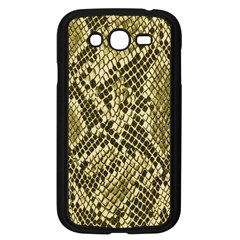 Yellow Snake Skin Pattern Samsung Galaxy Grand Duos I9082 Case (black)