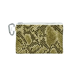 Yellow Snake Skin Pattern Canvas Cosmetic Bag (s)