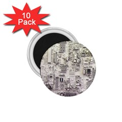 White Technology Circuit Board Electronic Computer 1 75  Magnets (10 Pack)