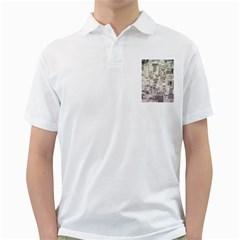 White Technology Circuit Board Electronic Computer Golf Shirts