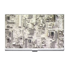White Technology Circuit Board Electronic Computer Business Card Holders