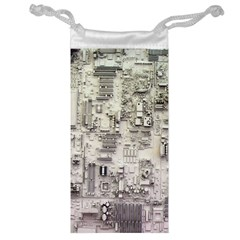 White Technology Circuit Board Electronic Computer Jewelry Bag
