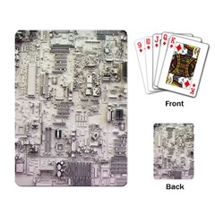 White Technology Circuit Board Electronic Computer Playing Card