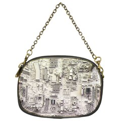 White Technology Circuit Board Electronic Computer Chain Purses (one Side)