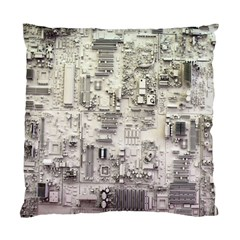 White Technology Circuit Board Electronic Computer Standard Cushion Case (one Side)