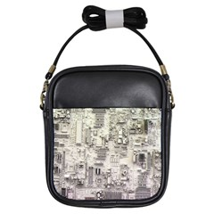 White Technology Circuit Board Electronic Computer Girls Sling Bags
