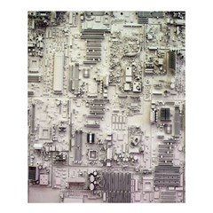White Technology Circuit Board Electronic Computer Shower Curtain 60  X 72  (medium)