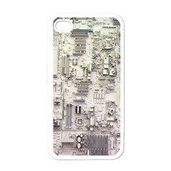 White Technology Circuit Board Electronic Computer Apple Iphone 4 Case (white)