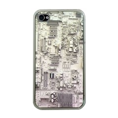 White Technology Circuit Board Electronic Computer Apple Iphone 4 Case (clear)