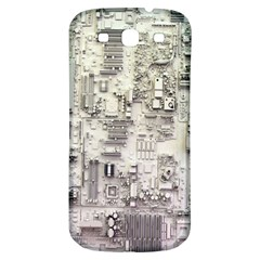 White Technology Circuit Board Electronic Computer Samsung Galaxy S3 S Iii Classic Hardshell Back Case