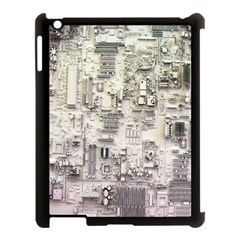 White Technology Circuit Board Electronic Computer Apple Ipad 3/4 Case (black)
