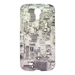 White Technology Circuit Board Electronic Computer Samsung Galaxy S4 I9500/i9505 Hardshell Case